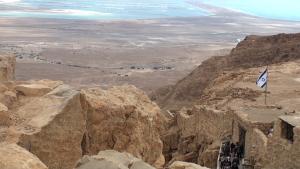 Blick von Massada, dem Sinnbild für Widerstandskraft