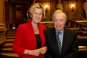 Dr. Otto Schönherr mit Lydia Ninz