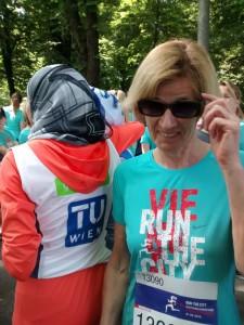 Lydia Ninz beim Frauenlauf in Wien
