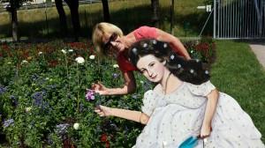 Kaiserin Sisi als Pappfigur im Sisipark Bad Ischl