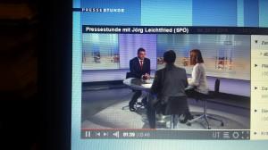Verkehrsminister Jörg Leichtfried in der ORF Pressestunde