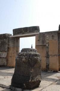 Der Tempel in Kapernaum in dem Jesus wirkte