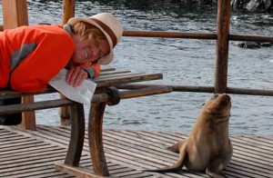 Lydia Ninz auf Galapagos
