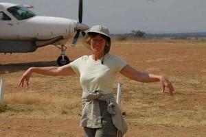 Lydia Ninz in Afrika