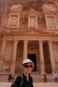 Lydia Ninz in Petra, Jordanien