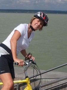 Lydia Ninz unterwegs mit dem Rad