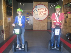 Vor dem Start mit Segways in San Francisco