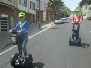 Auf Segways in San Francisco vor ZIeleinlauf